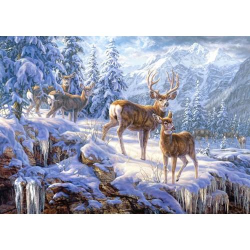 Пазл Зимние горы (C-102501) 1000 элементов