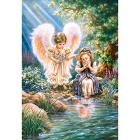 Пазл Ангел с девочкой (C-151660)