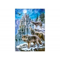 Пазл Волки и замок (C-151141)