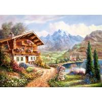 Пазл Дом в горах (C-200511)