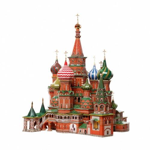 3D пазл «Покровский Собор Храм Василия Блаженного (Москва)» (195)