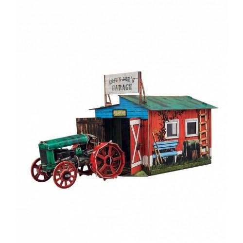 3D пазл «Трактор и гараж» (371)