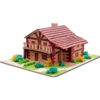 3D пазл из обожженной глины «Дом в горах» (30215)