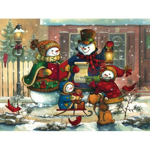 Снеговики (54583) Пазлы в подарок к праздникам