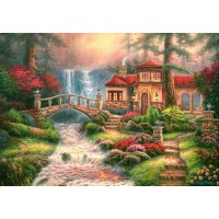 Пазл «Дом у водопада» (B-52202)