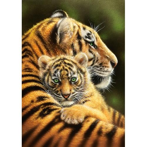 Пазл «Тигры» (B-52448) Вертикальные
