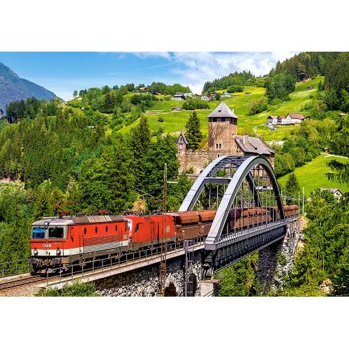 Пазл «Поезд на мосту» (B-52462)
