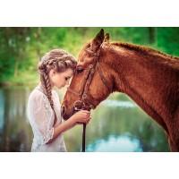 Пазл «Девушка и лошадь» (B-52516)