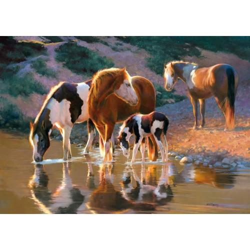 Пазл «Лошади на водопое» (B-52097)
