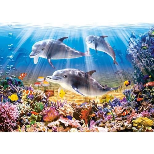 Пазл «Дельфины под водой» (B-51014)