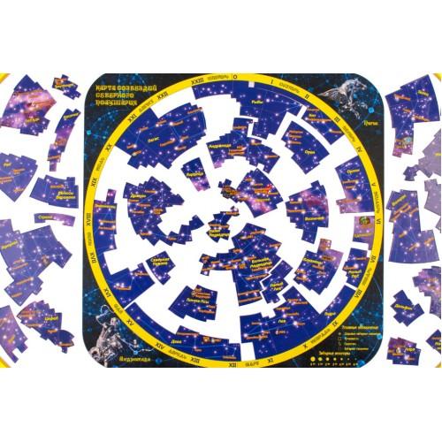 Карта звёздного неба - северное полушарие (магнитный пазл)