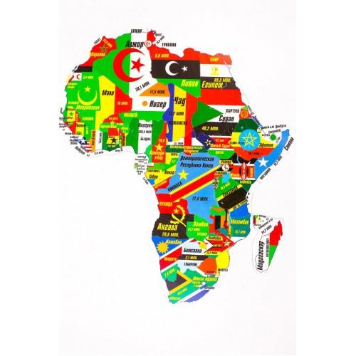 """Магнитный географический пазл """"Африка"""" на доске 32х51"""
