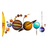 "Магнитный пазл ""Солнечная система"" на доске 44х72"