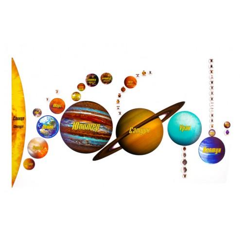 """Магнитный пазл """"Солнечная система"""" на доске 44х72 Магнитные NEW⚡"""