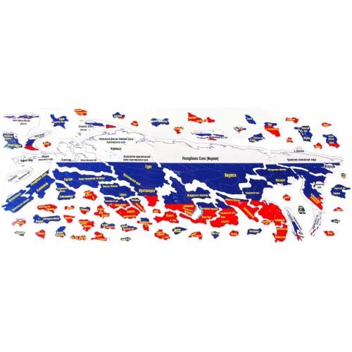 """Магнитный географический пазл """"Россия"""" на доске 44х72"""