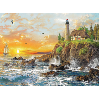 Пазл «Закат у скалистого побережья» (33044)